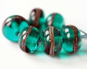 Teal Spacer Beads ~ Lampwork Accent Bead Set Made To Order