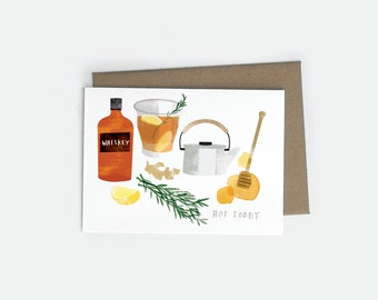 SALE! Rosemary Ginger Hot Toddy A6 Card