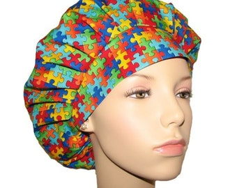 Scrub Hats - Autism Awareness Pieces Of The Puzzle