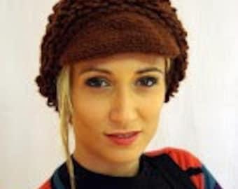 Superb Winter Hand Crochet Hat, Shepard's unisex hat, Shepard's visor hat,  Unisex slouchy hat, hand made Shepard's beanie,