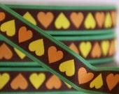 woven ribbon 'Frog prince hearts'