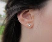 Silver Stud Earring, Medium (5mm) Sterling Silver Stud Earrings, Silver Post Earrings, Sterling Silver Studs