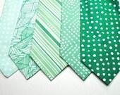 Green Wedding Neckties, Emerald Neckties, Mens Neckties, Mint Neckties