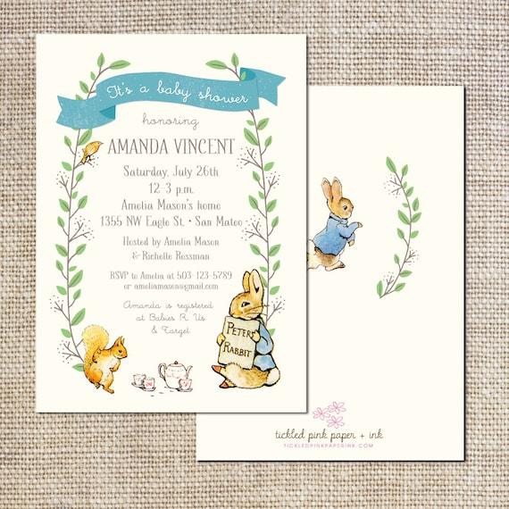 Peter Rabbit Invitation as Luxury Design To Create Best Invitations Ideas