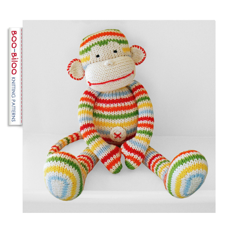 Toy Knitting Patterns : BoBo the monkey toy knitting pattern