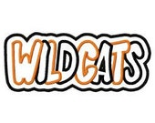 Wildcats 2 Color Embroidery Machine Double Applique Design 4165