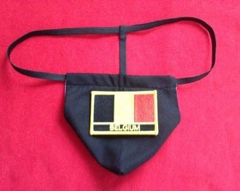 Mens COLUMBIA G-String Thong Male Soccer World Cup Lingerie Country Flag Underwear