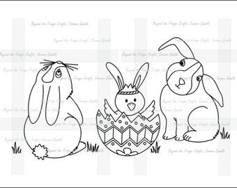 Happy Easter Peeps Digital Stamp