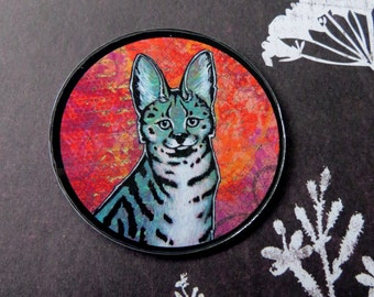 Turquoise Serval (art magnet)