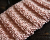 KNITTING PATTERN-Barbed Wire Fence, Dishcloth Pattern