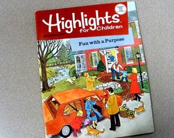 Highlights magazine November 1983, children stories, puzzles, games, crafts, school, nostalgic, learning, birthday gift idea scorpio