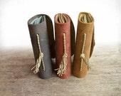 Leather Bound Journal Set, Three Little Travelers, Travel Journal, Pocketbook
