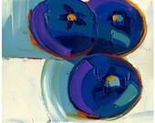 Print - Blues of Three -8inX8in-Modern Fine Art