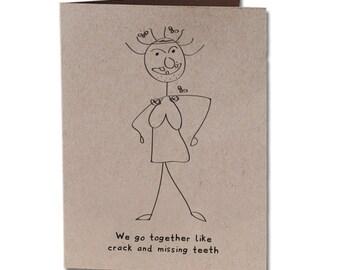 Anniversary Humor Greeting Card Crack