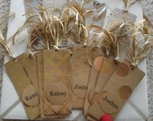 Kraft and Gold Foil Bookmarks