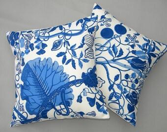 "Josef Frank ""LA PLATA"" pillow 16""x16"" genuine authentic Swedish Scandinavian Brunschwig and Fils interior Svenskt Tenn Crabby Chris™"