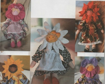 "Simplicity Crafts 17"" Flower Petal Doll Pattern Uncut #9492"
