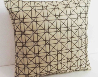 Natural/Beige Pillow/geometric/Custom/Throw Pillow/Outdoor Pillow/Embroidery Pattern/Craftily Creative/Rustic Home Decor/great gifts