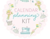 FULL SHEET size CALENDAR Planning Kit- Digital File Instant Download- week at a glance, month at a glance with scripture