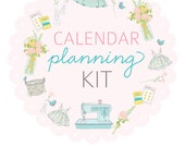 HALF SHEET size CALENDAR Planning Kit- Digital File Instant Download- week at a glance, month at a glance with scripture