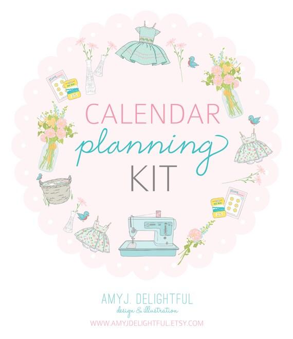 LETTER size CALENDAR Planning Kit- Digital File Instant Download- week at a glance, month at a glance with scripture