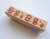 Cute Japanese Wood Rubber Stamp-Russian Doll (Matryoshka)