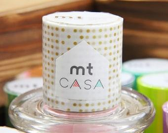 mt casa - Washi Masking Tape - Interior Design - Small Gold Dots 50mm Wide