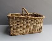 Antique French Market Gathering Basket