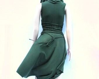 Women's Dress maxi skirt maxi Dress Party Hoodie high low skirt