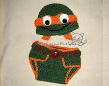 Popular items for baby ninja turtle on Etsy