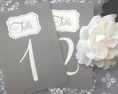 PRINTED Table Numbers - Style TN2 - TEAGAN COLLECTION