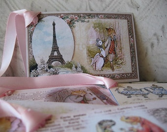 DIY - Beatrix Potter Postcard Tags - Instant Download 5 Gift Tags - Jemima Puddleduck, Mrs Tittlemouse, Sir Isaac... - Digital File - pdf