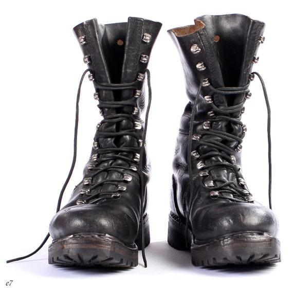 mens combat boots black leather biker boots boots