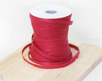 1 Spool 100 yards - Raffia String in Dark Red