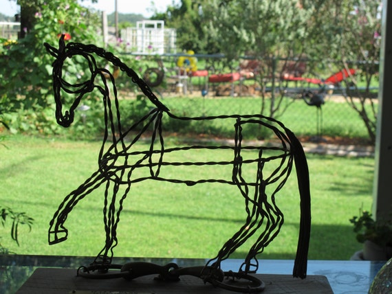 Dressage Horse at Half Pass Recycled metal sculpture -ON SALE NOW!!!!