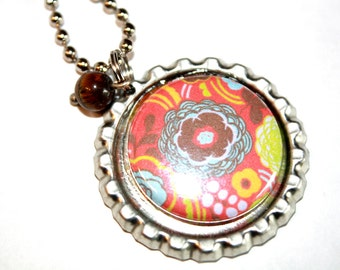 Bottle Cap Necklace, Gift, Whimsy Jewelry,