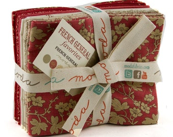 FRENCH General Favorites 10 fqs Moda precuts shabby quilt fabric Kaari Meng calico turkey red reproduction fat quarters maker sewing cotton