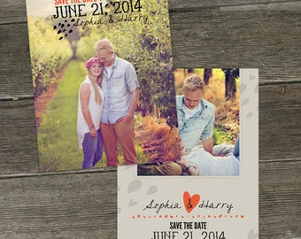 So In Love 5x7 Save The Date Photoshop Templates