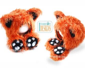 CROCHET PATTERN Furry Foxy Cat Hat Bonnet, Crochet PDF Pattern