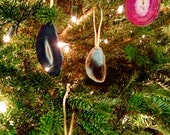 Agate Stone Ornaments - Set of 6