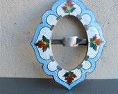 Antique Sterling Guilloche Enamel Brooch Sash Pin