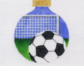 Soccer Ball and Net Needlepoint Ornament - Jody Design B134