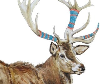 "Digital Print of original watercolor ""Hart Sleeves"""