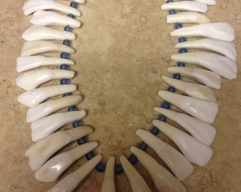 Buffalo tooth necklace native american made