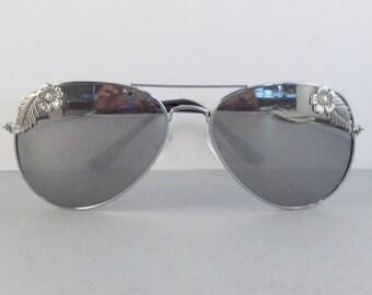 Posies,Sunglasses,Glasses,Aviator,Aviator Sunglasses,Flower,Flower Sunglasses,Leaf,Leaf Sunglasses,Clubmaster,Vintage Style Sunglass