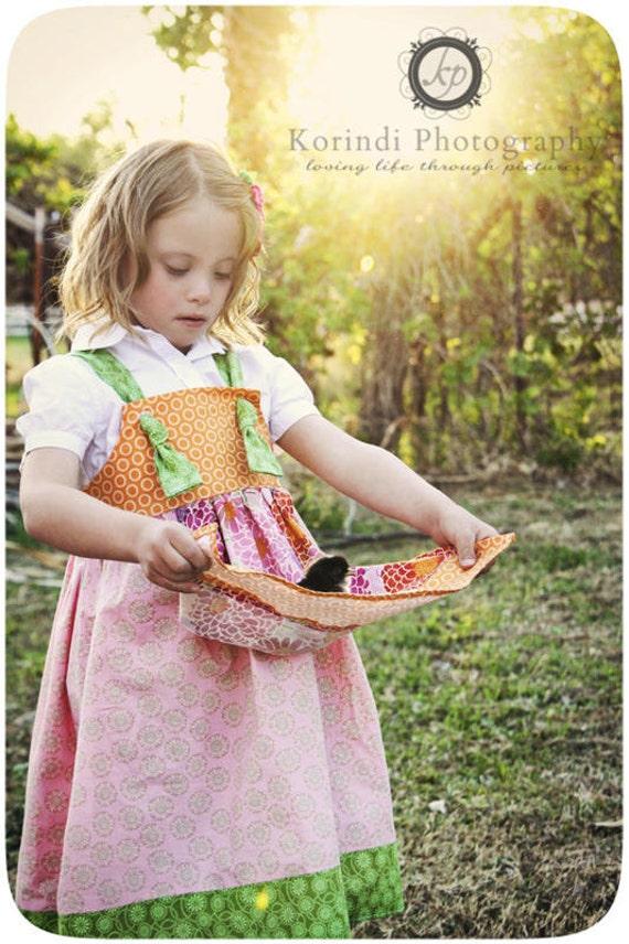 Girls Dress SEWING PATTERN, Knot Dress Pattern, Girls Dress Pattern, Matilda Jane Clothing Pattern, Matilda Jane Pattern, Apron Knot Pattern