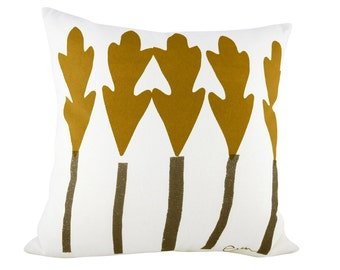 Leaf Trees 20in Pillow in Sienna + Brown