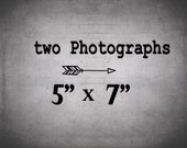 Set of 2 prints at 5x7 - Two 5x7 photographs / Save 40%