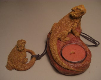 Bearded Dragon Candle Holder and Necklace COMBO SPECIAL!