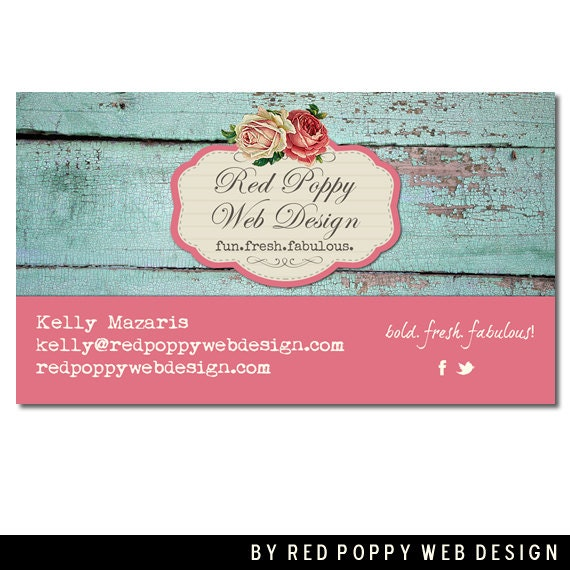 Business Cards Digital Print at Home or by redpoppywebdesign